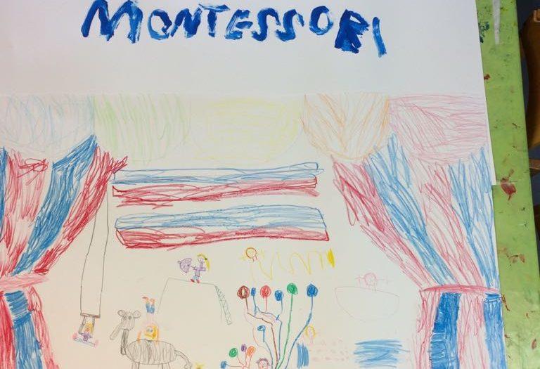 Bild vom Zirkus gemalt von den Kinderhauskindern